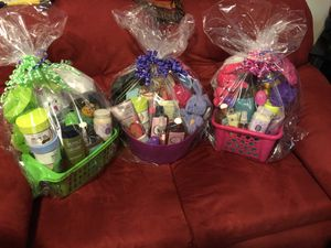 Easter Baskets! 20 and 25$ individual items 6$ (Trader Joe's) everything's brand new! Never opened. Will make more baskets tonight for Sale in Durham, NC