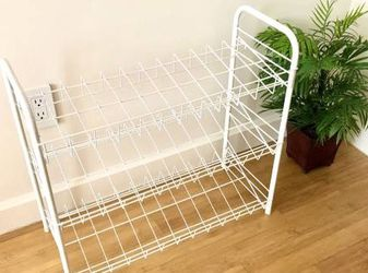 Urban Outfitters 3 - Tier Stackable Iron Shelf Closet Organizer Shoe Rack White for Sale in New York,  NY