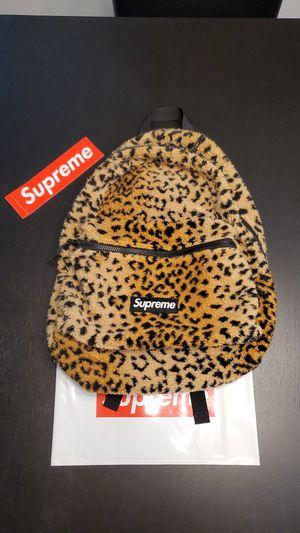 Supreme Leopard Fleece Backpack FW17 for Sale in Beaverton, OR