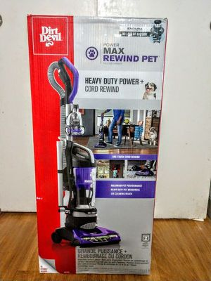 Dirt Devil Power Max Rewind Pet Bagless Upright Vacuum, UD70187 for Sale in Revere, MA