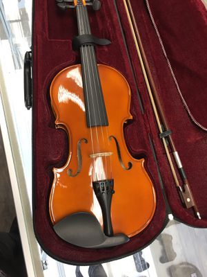 Mendini 3/4 MV200 Solid Wood Natural Varnish Violin with Hard Case for Sale in Lynn, MA