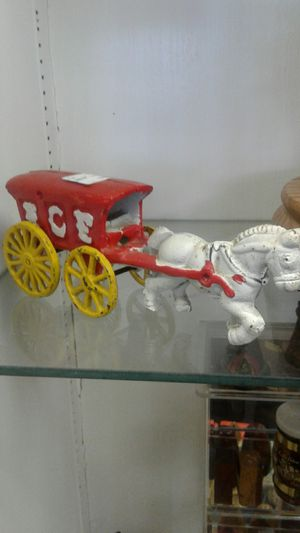 Cast iron Ice horse and buggy for Sale in Sacramento, CA
