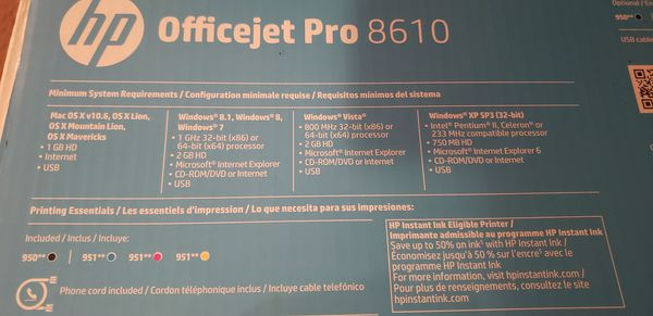 HP Officejet Pro 8610 Color Printer/Scanner/Fax