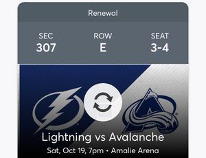 Tampa bay lightning tickets for Sale in Pinellas Park, FL