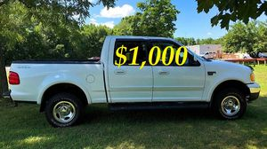 $1,OOO I'm seling URGENTLY 2OO2 Ford F-150 XLT Super Crew Cab 4-Door Pickup Everything is working great! Runs great and fun to drive!!!! for Sale in Garrison, MD