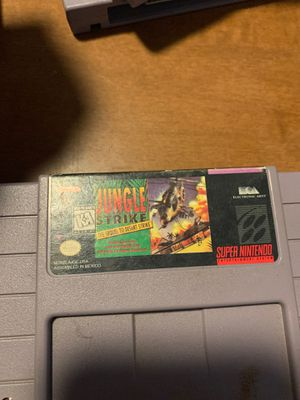 Jungle Strike Nintendo Super NES For Super Nintendo SNES for Sale in Edgemere, MD