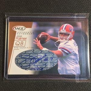 2001 Sage Authentic Autograph insert card #A34 - Jesse Palmer Florida Gators #'d 104/650 for Sale in Ormond Beach, FL