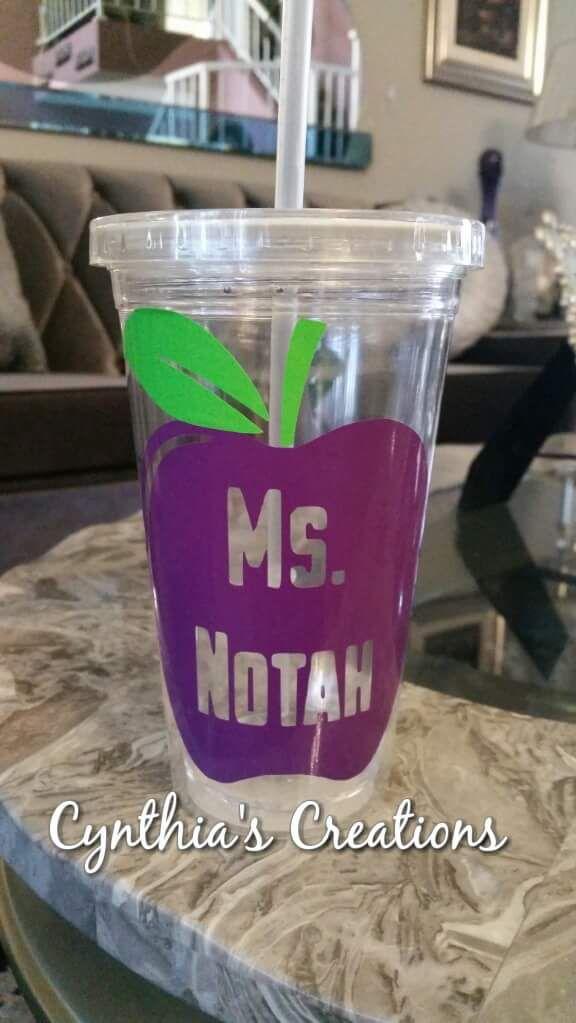 Custom teacher appreciation cups