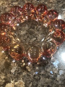 Vintage Pink Glass Ash Tray. ,Round shape 5 1/2 Inches Across. New Perfect Condition for Sale in Cerritos,  CA