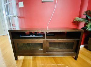 Crate & Barrel Solid Mahogany Wood Entertainment Console Unit for Sale in Lorton, VA