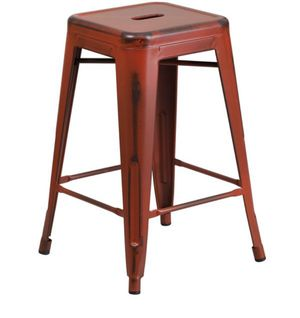 Rustic red barstools (set of 4) for Sale in Rex, GA
