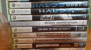 10 xbox 360 games together 5 each for Sale in Modesto, CA
