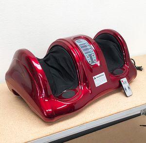 New in box $70 Shiatsu Foot Massager Kneading Rolling Leg Calf Ankle w/ Remote Home Health Care for Sale in Whittier, CA