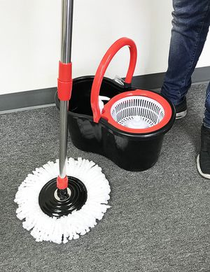 (NEW) $20 each Spin Mop 360 degree press mop bucket set with push and pull rotation for Sale in South El Monte, CA