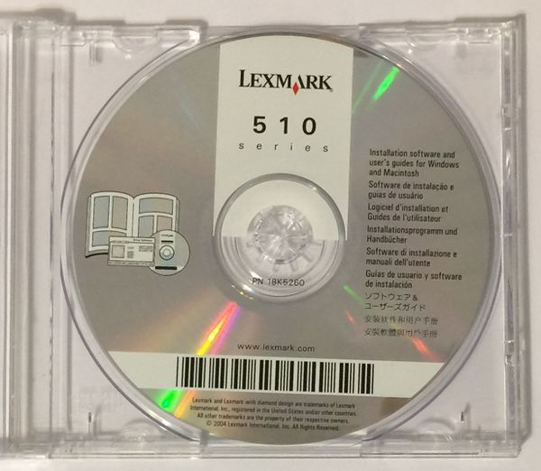 Lexmark 510 Series Software CD-Rom