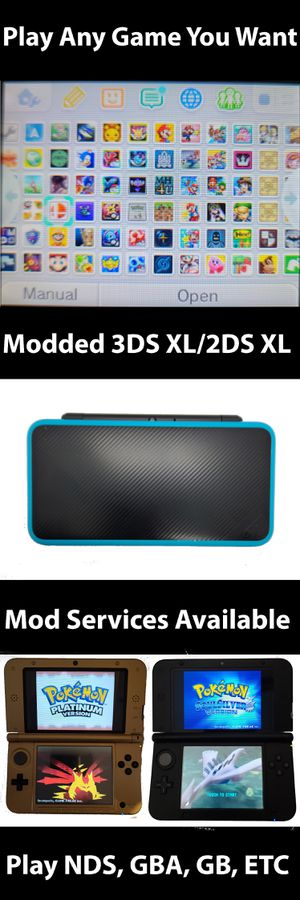 New Nintendo 3ds/2ds xl 32GB/64GB/128GB Plays GBA, NDS, Sega Genesis etc for Sale in Salt Lake City, UT