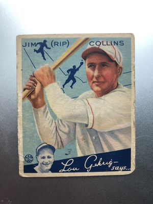 "1954 Goudey Jim ""Rip"" Collins Baseball Card - Good for Sale in Covington, WA"