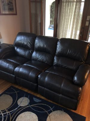 Leather Powered 3 Seat Reclining Sofa for Sale in San Diego, CA
