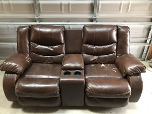 Dual Recliner Couch with center console. for Sale in Chapel Hill, NC