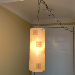 Vintage Mid Century Modern Fiberglass Hanging Swag Lamp for Sale in Rancho Cucamonga, CA