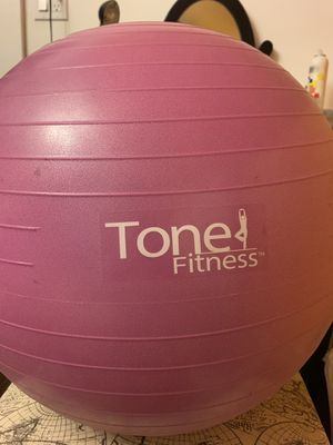Tone fitness exercise ball with pump for Sale in Waltham, MA
