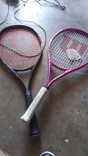 2 gently used Wilson tennis rackets for Sale in La Puente, CA