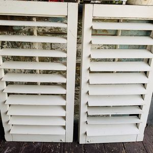 "Shabby Set Of Shutters 35 1/2"" Tall for Sale in Mount Hamilton, CA"