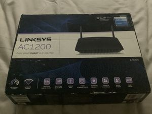 Linksys AC1200 Wi-Fi WiFi Wireless Router Dual-Band Smart App Range N300 EA6100 for Sale in Spring, TX