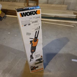 """Cordless Worx 10"""" 2in 1 Polesaw/Power Saw/chainsaw for Sale in Mount Laurel Township, NJ"""
