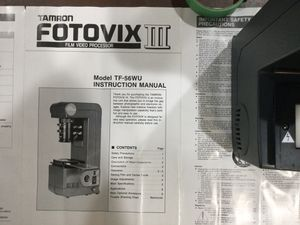 TAMRON FOTOVIX III. FILM. / VIDEO. PROCESSOR for Sale in Johnsburg, IL