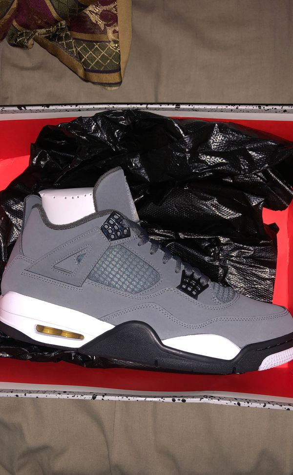 Air Jordan 4 retro cool grey size 12 no trades and not coming down on the price