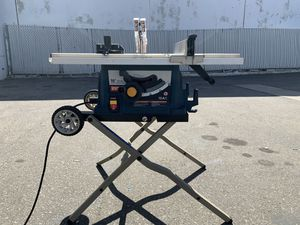 "Ryobi 10"" Table Saw with Folding Stand 15 amp for Sale in Ontario, CA"