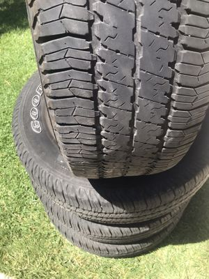 4 tires size p25575r17 for Sale in Patterson, CA