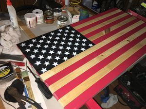 Painted wooden flag for Sale in Pittsburgh, PA