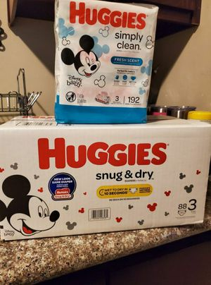 Huggies Snug And Dry Bundle Size 3 for Sale in Compton, CA