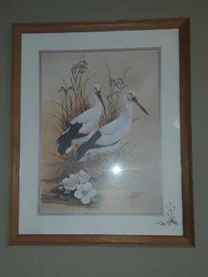 Bird print- large, good shape for Sale in Atlantic Beach, NC