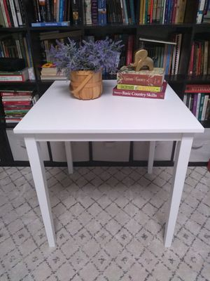 White Square Dining Kitchen Table Desk Office Card Table Farmhouse Shabby Chic for Sale in Phoenix, AZ