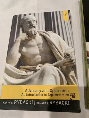 Advocacy and Opposition 7th edition for Sale in Irvine, CA
