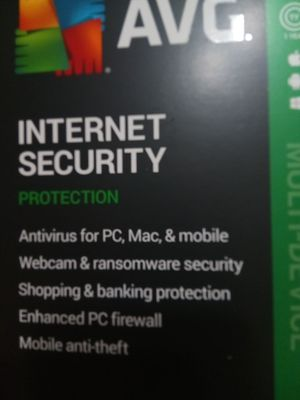 AVG INTERNET SECURITY SOFTWARE NEW for Sale in St. Petersburg, FL