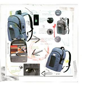 Solar Charging Laptop Backpack for Sale in Tampa, FL