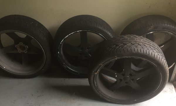 6 22in rims and 4 tires