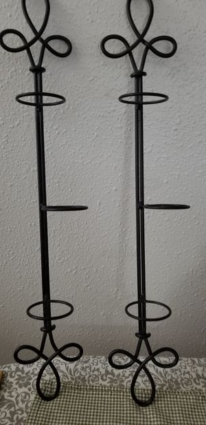 (2) iron wall sconces for votive candles,excellent condition for Sale in Lacey, WA