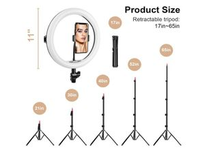 "Selfie Ring Light with Adjustable Tripod Stand & Phone Holder 11"" Dimmable LED Camera Ring Light for Live Stream/Makeup/Video, with Remote for Sale in Rancho Cucamonga, CA"