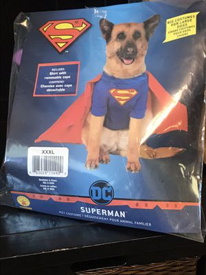 XxxL Superman dog costume for Sale in Plant City, FL
