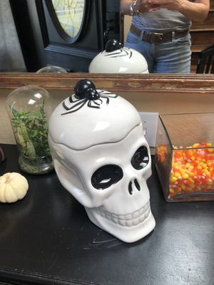 Large ceramic candy or plant Skull. for Sale in San Diego, CA
