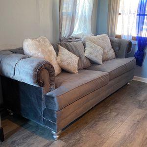 Eva Grey Velvet Living Room Set for Sale in Garrison, ND