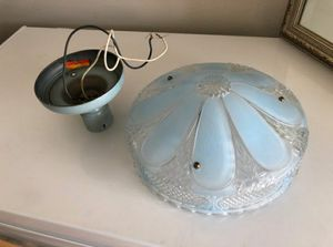 Blue vintage hanging light for Sale in Lakewood, WA