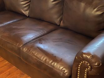 Leather Sofa Sleeper Full/Queen Size Pullout for Sale in Medford,  NJ