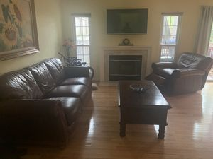Leather Living Room Set for Sale in Silver Spring, MD