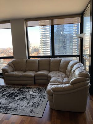 Leather Sectional Couch for Sale in Chicago, IL